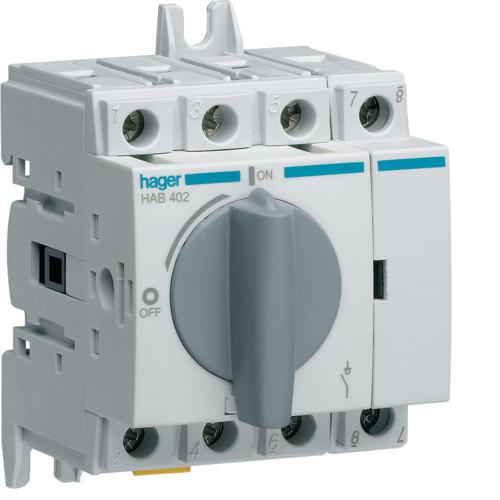 Выключатель напряжения (рубильник) поворотный 400/690В 20А, 4п, 3.5м (HAB402)