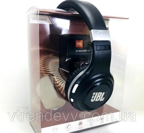 Наушники беспроводные Bluetooth Headphones JBL B61 черные
