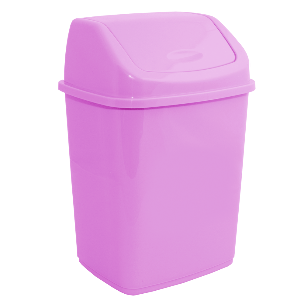 Ведро для мусора 5л с крышкой розовый