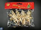 Янголята, новорічні іграшки, Янголятко з сопілкою, 4шт/уп., фото 2