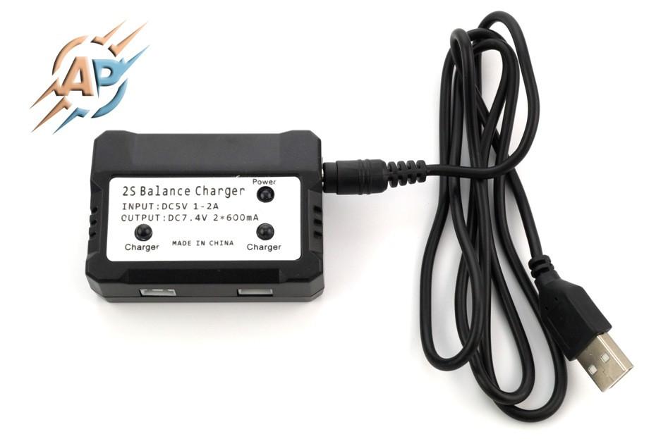 Зарядное устройство аккумуляторов (батарей) квадрокоптера, 7.4В
