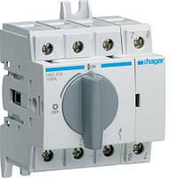 Выключатель напряжения (рубильник) поворотный 400/690В 100А, 4п, 4м (HAC410)