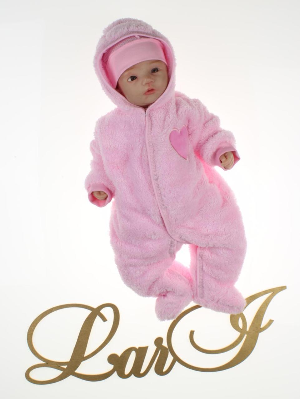 Теплый комбинезон для девочки Пушистик розовый