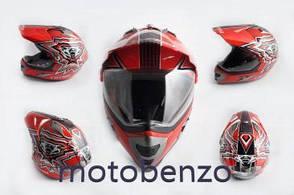 Шолом кросовий mod: MX433 з Візор, size: XL, червоний