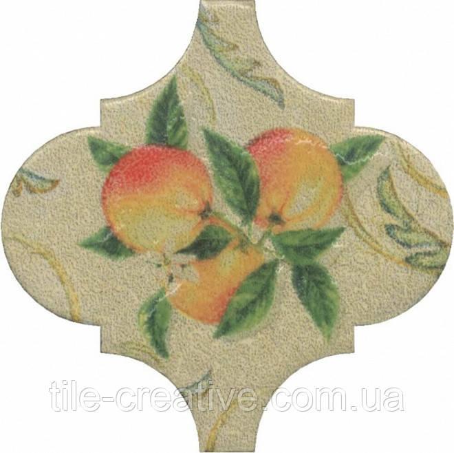 Керамическая плитка Декор Арабески котто орнамент 6,5x6,5x7 OP\A168\65000