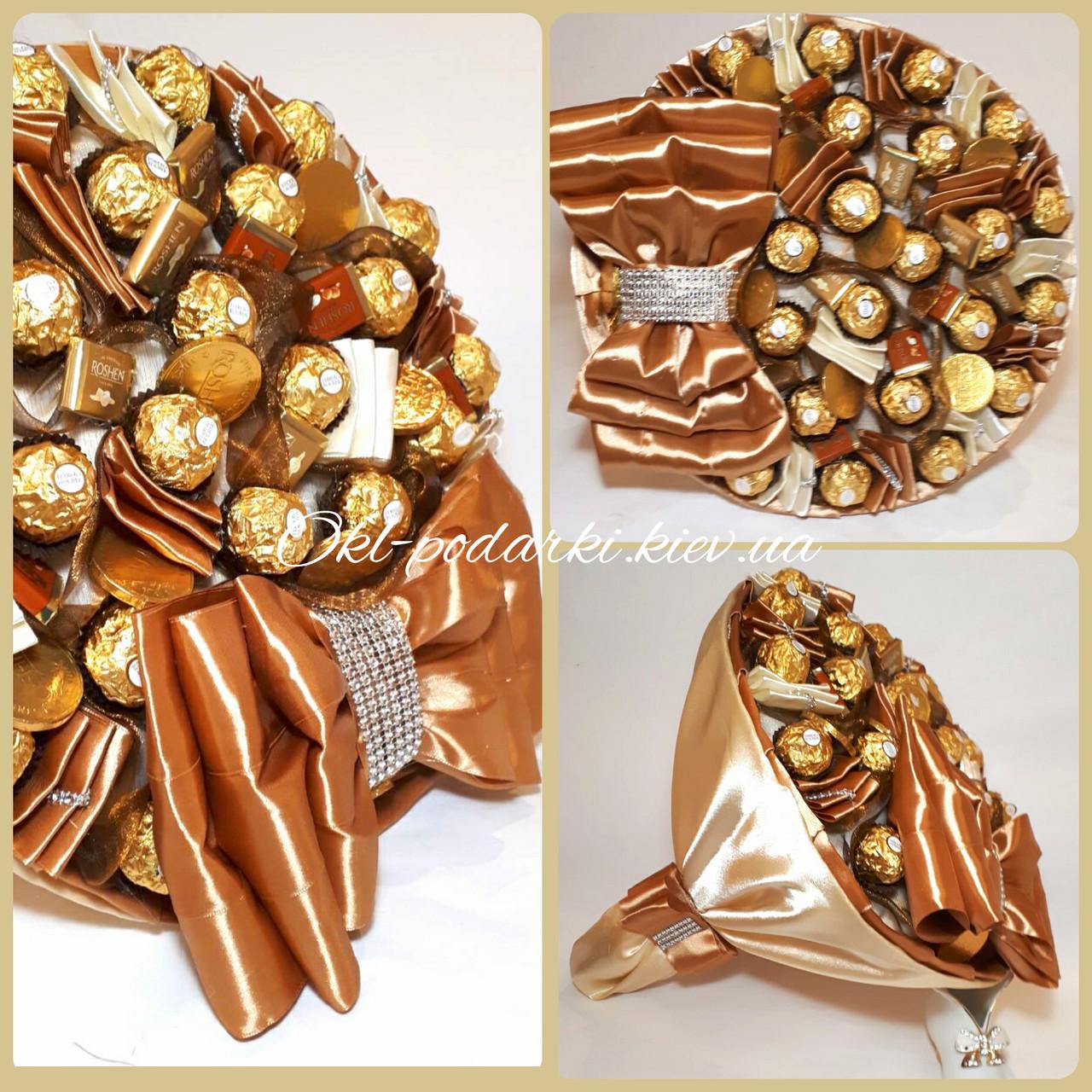 Большой Букет из  конфет  Благородный