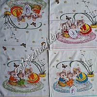Кухонное полотенце лен-махра Семейка крыс, фото 1