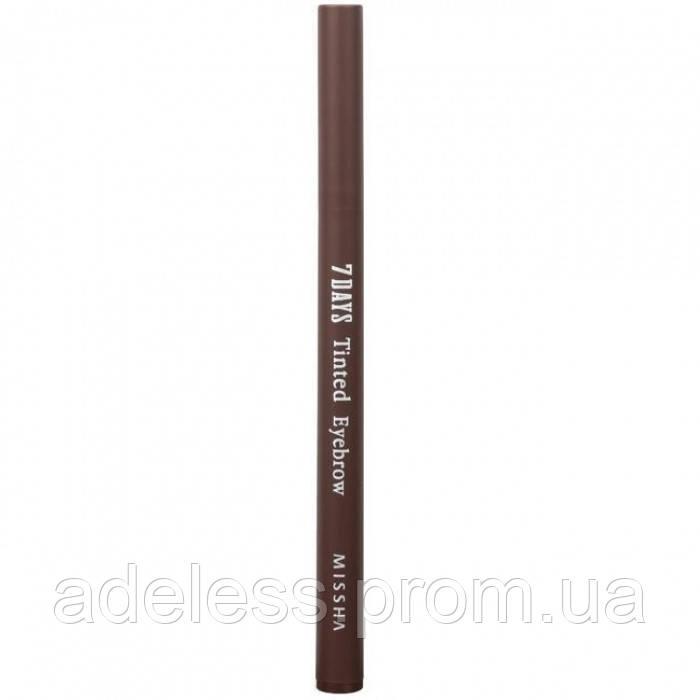 Стойкая подводка для бровей Missha 7 Days Tinted Eyebrow (Maroon Brown)