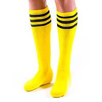 Гетры футбольные, нейлон, хлопок, p-p 39-45, желтый (N047Y)
