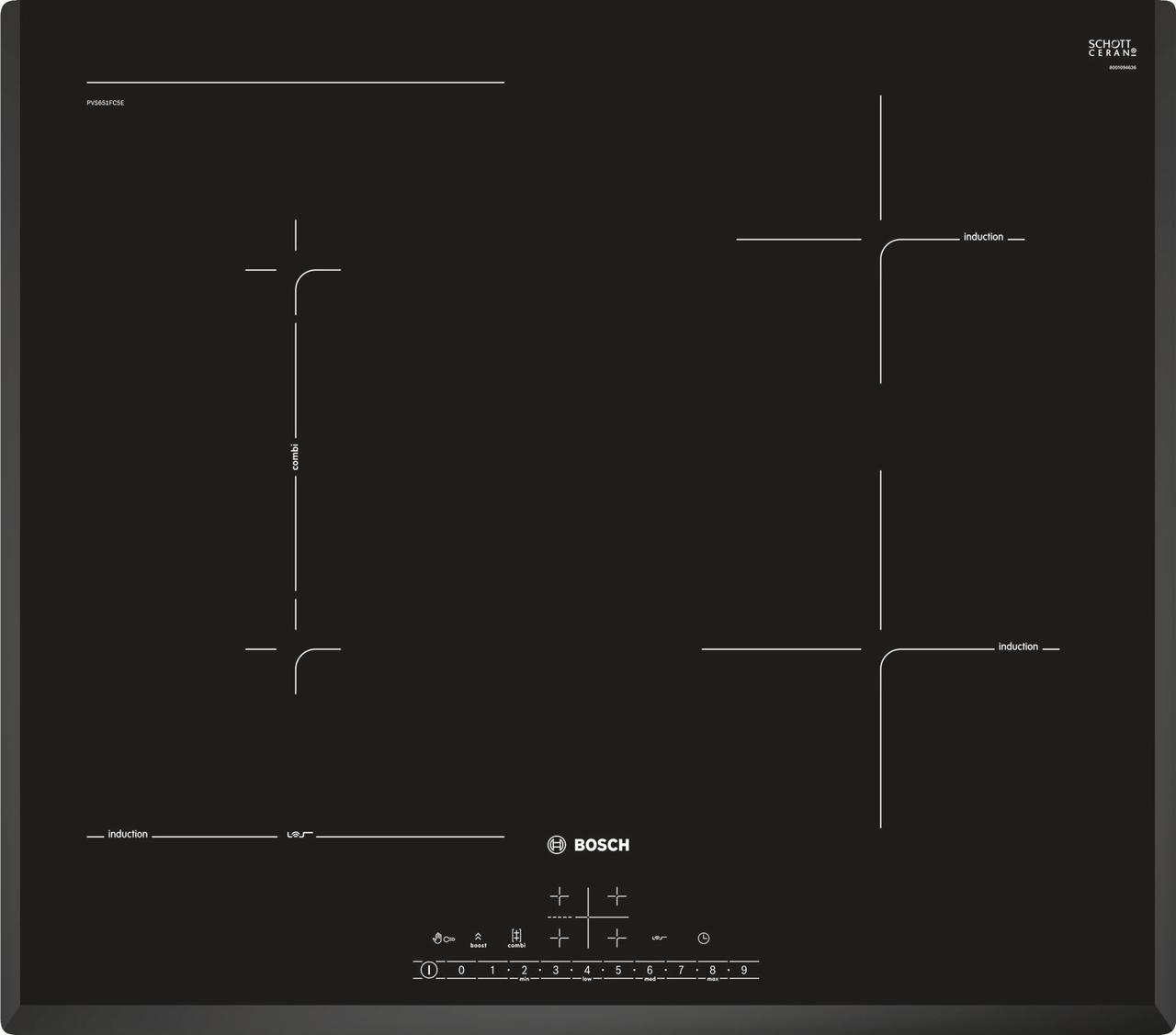Индукционная варочная поверхность Bosch PVS651FC5E