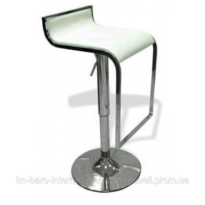 Барный стул Ж8, белый кожзам