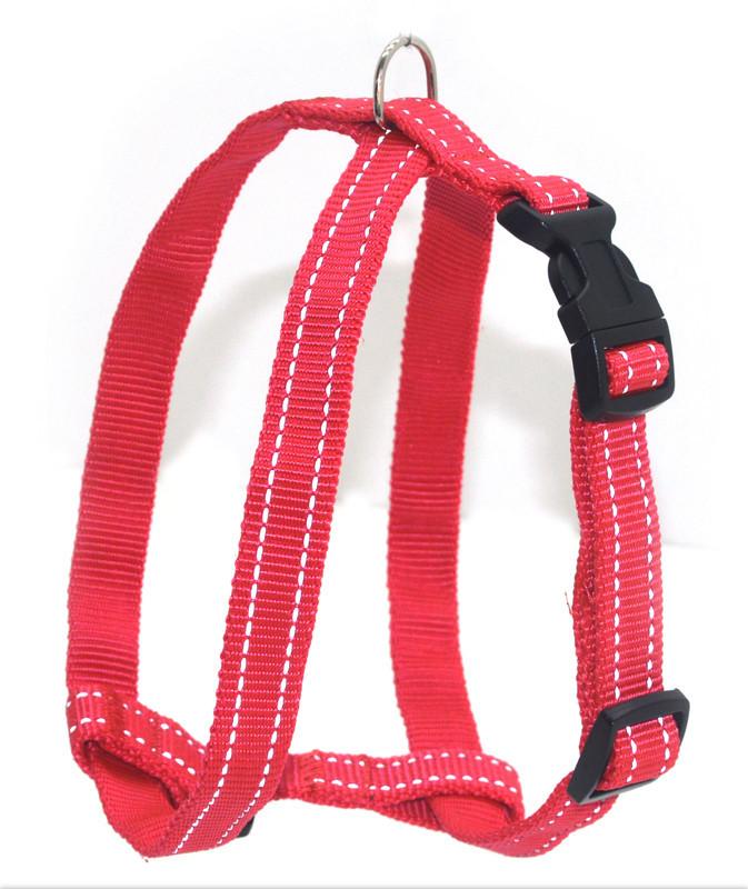 Шлея для собак светоотражающая Неон 1,6 красная