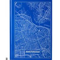 Канцелярская книга А4 AXENT 8422-507-A Maps Amsterdam 96л клет голубой