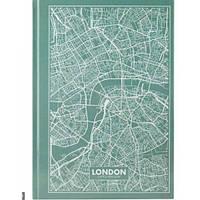 Канцелярская книга А4 AXENT 8422-516-А Maps London 96л клет бирюзовый