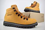 Зимові чоловічі черевики Caterpillar з хутром руді черевики CAT теплі. Живе фото. Репліка, фото 3