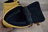 Зимові чоловічі черевики Caterpillar з хутром руді черевики CAT теплі. Живе фото. Репліка, фото 2