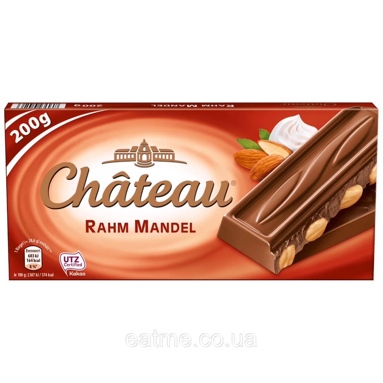 Немецкий шоколад Chateau Молочный с цельным миндалём