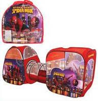 """Детская игровая палатка с туннелем 8015SP/B/HK1/FZ-B """"Spider-Men"""""""