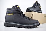 Зимние мужские ботинки Caterpillar с мехом черные ботинки CAT теплые. Живое фото. Реплика, фото 3