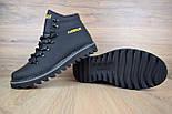Зимние мужские ботинки Caterpillar с мехом черные ботинки CAT теплые. Живое фото. Реплика, фото 8
