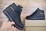 Зимние мужские ботинки Caterpillar с мехом черные ботинки CAT теплые. Живое фото. Реплика, фото 5