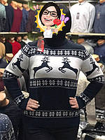 Тёплый новогодний женский свитер