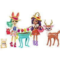 Набор Enchantimals® «Волшебный сад» из двух кукол с любимыми зверюшками