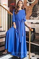 Женское платье в пол индиго