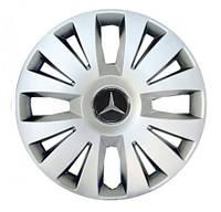 """Колпаки для колес 15"""" c логотипом автомобиля 4 шт (SKS 324) Mercedes"""