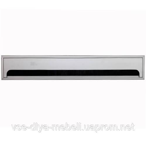 Заглушка для кабеля Merida прямоугольная 80х500мм, алюминий (LB-80x500-05)