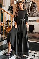 Женское платье в пол черное, фото 1