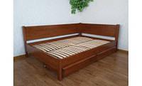 Кровать угловая деревянная КРОВАТЬ Центр Шанталь сосна, ольха