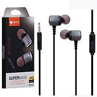 Наушники с микрофоном (гарнитура) DEEPBASS D-EX-157 серый