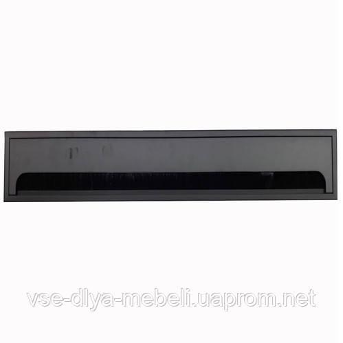 Заглушка для кабеля Merida прямоугольная 80х500мм, черный (LB-80x500-20)