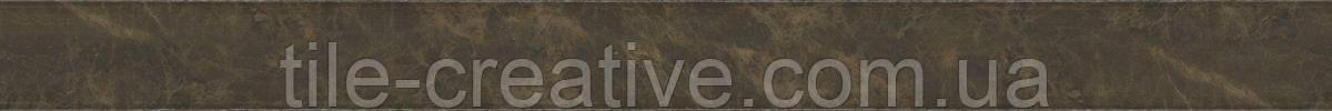 Керамическая плитка Бордюр Гран-Виа коричневый обрезной30x2,5x19 SPA041R