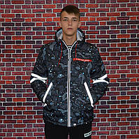 Чоловіча зимова куртка в стилі Bape Shark | Рефлективні вставки!, фото 1