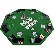 Накладка для игры в покер Pro Poker Compact 122x122 см Зеленый