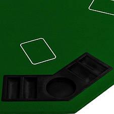 Накладка для игры в покер Pro Poker Compact 122x122 см Зеленый, фото 3