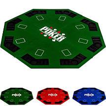 Накладка для игры в покер Pro Poker Compact 122x122 см Зеленый, фото 2