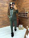 Женский утепленный флисом спортивный костюм с худи 52so818, фото 3