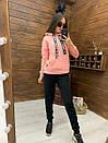 Женский утепленный флисом спортивный костюм с худи 52so818, фото 4
