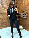 Женский утепленный флисом спортивный костюм с худи 52so818, фото 5