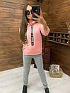 Женский утепленный флисом спортивный костюм с худи 52so818, фото 8