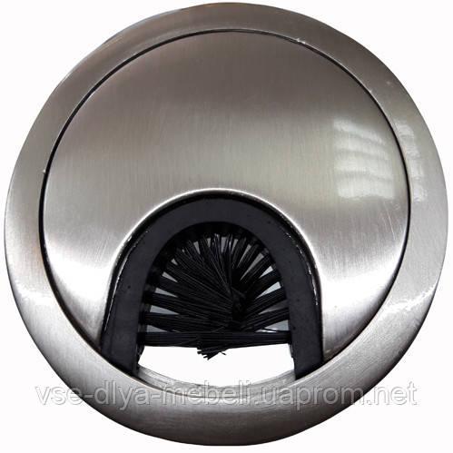 Заглушка для кабеля металлическая d-60мм никель inox GTV (PM-LBFI60-06)
