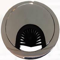 Заглушка для кабеля металлическая d-60мм хром GTV (PM-LBFI60-01)