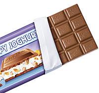 Milka Crispy Joghurt Молочный шоколад с йогуртовой начинкой и кукурузными хлопьями, фото 2