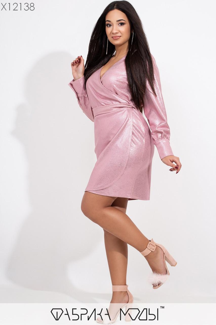 Мерцающее платье в больших размерах с напылением и верхом на запах 1ba416
