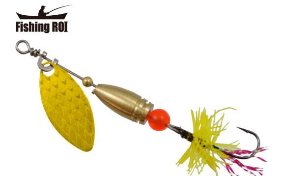 Блесна Fishing ROI Teeny Spoon 2.6г 002 Fly Yellow (95-26-002-Y)