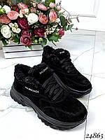Зимние замшевые кроссовки Balenciaga аналог, фото 1