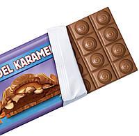 Milka Mandel Karamell Молочный шоколад с карамелью и миндалём, фото 2